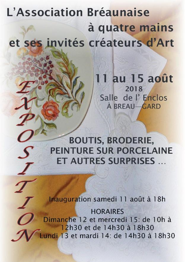Association Bréaunaise à Quatre Mains : exposition