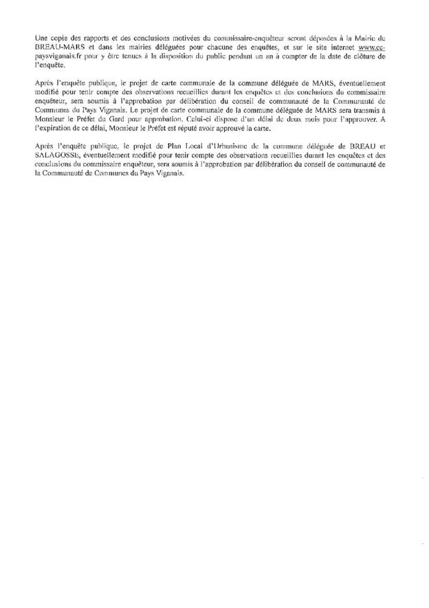 AVIS D'ENQUETES PUBLIQUES