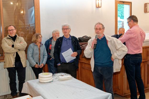 Jean-Michel DERICK maire délégué de la commune de MARS accueille le public en compagnie de Roland CANAYER président du SMEG