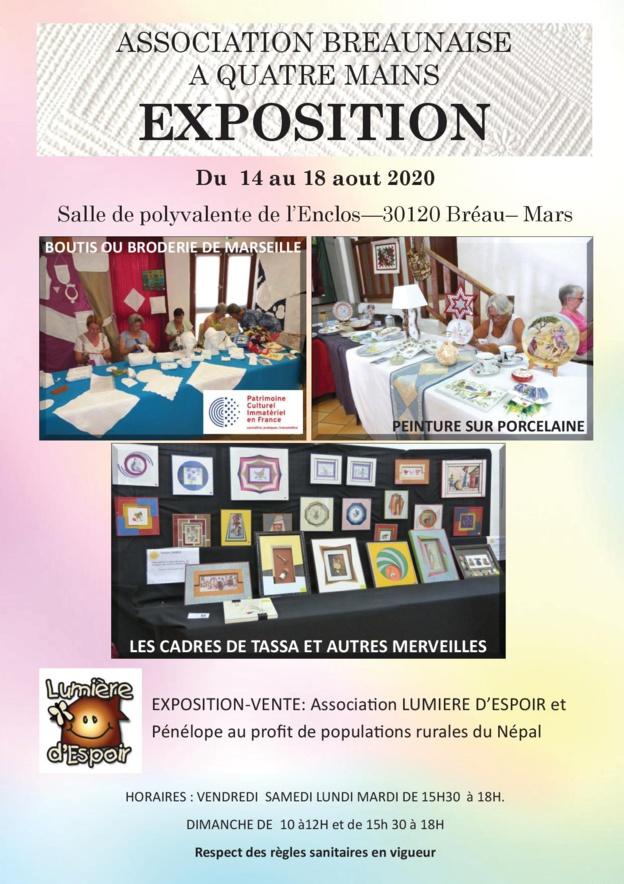 Exposition Association Bréaunaise à Quatre Mains