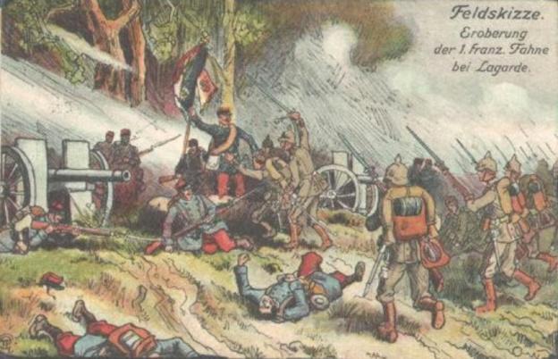 Illustration allemande du combat de Lagarde