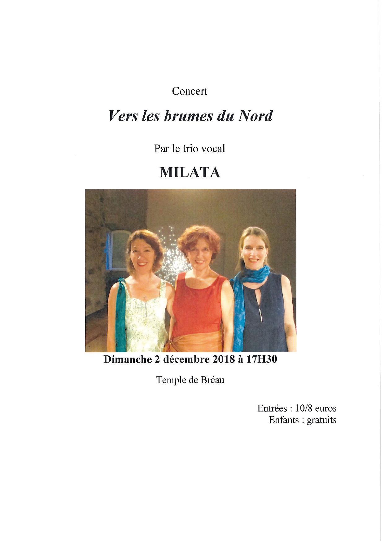 """Concert """"Vers les brumes du Nord"""""""