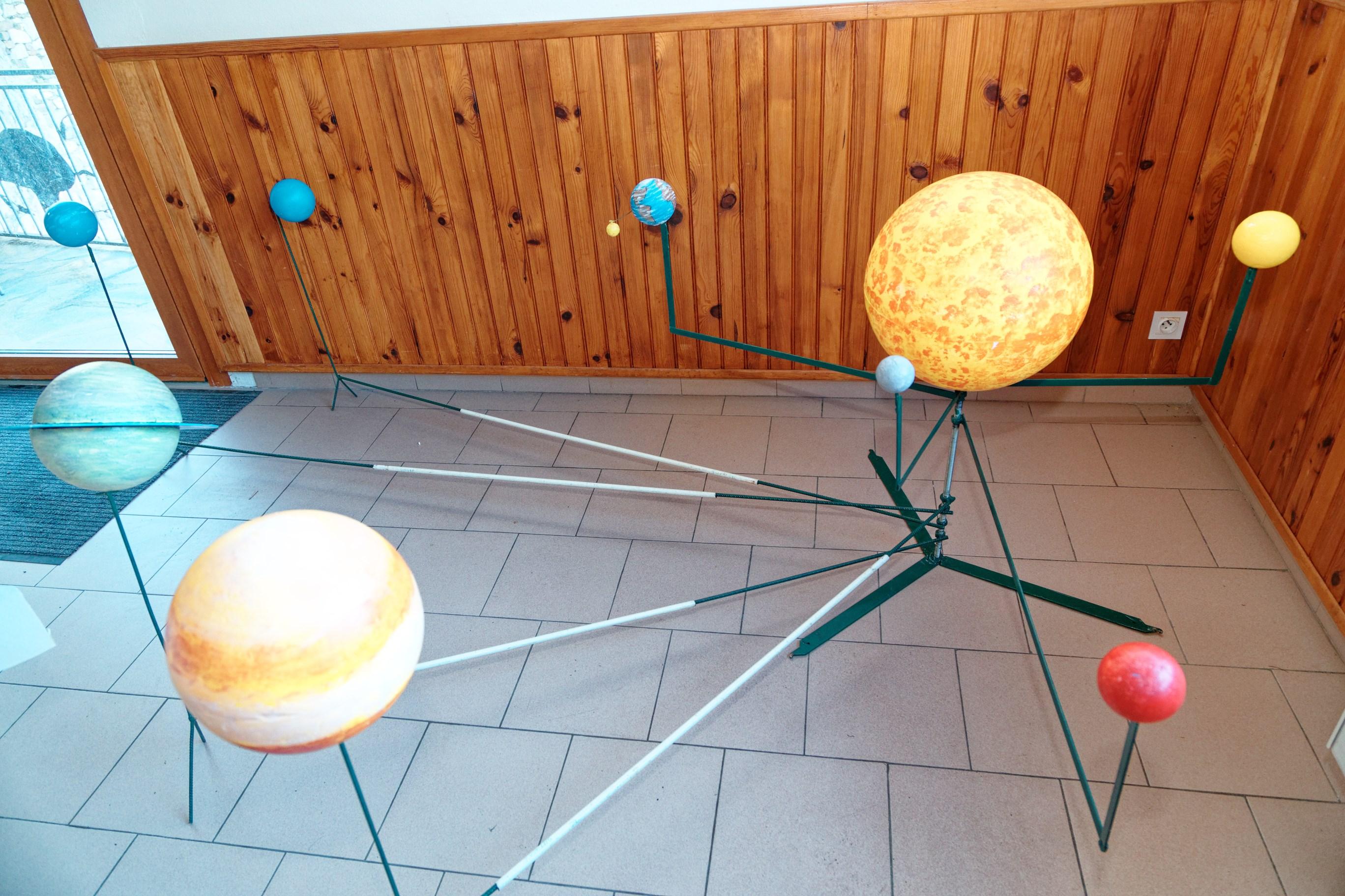 Le soleil et ses satellites