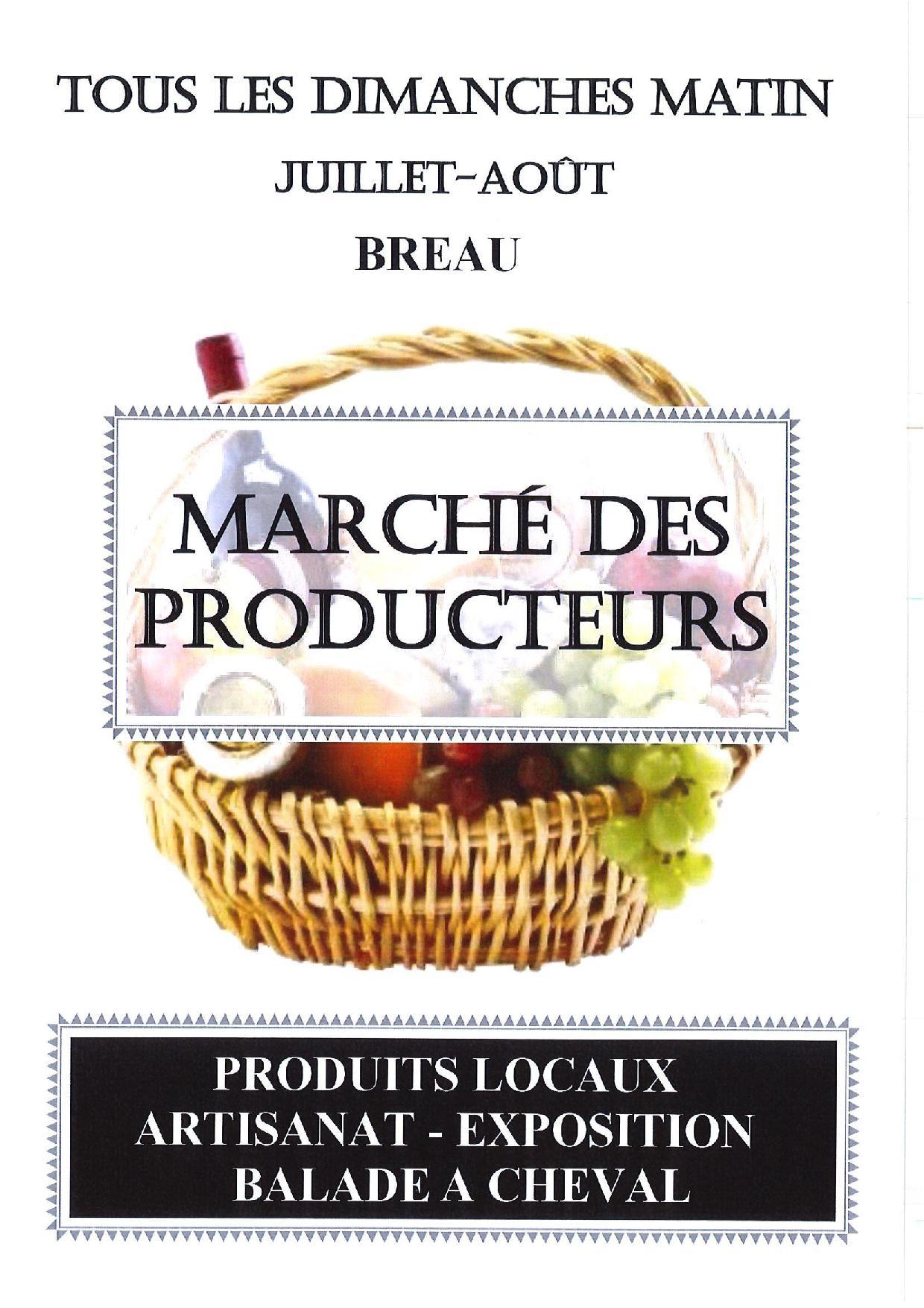 Marché de Bréau ce dimanche 5 juillet 2020, c'est parti !