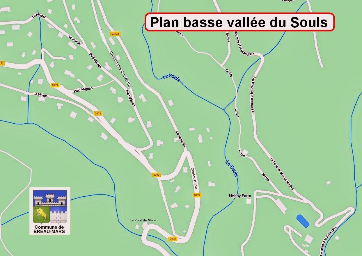 Plan basse vallée du Souls