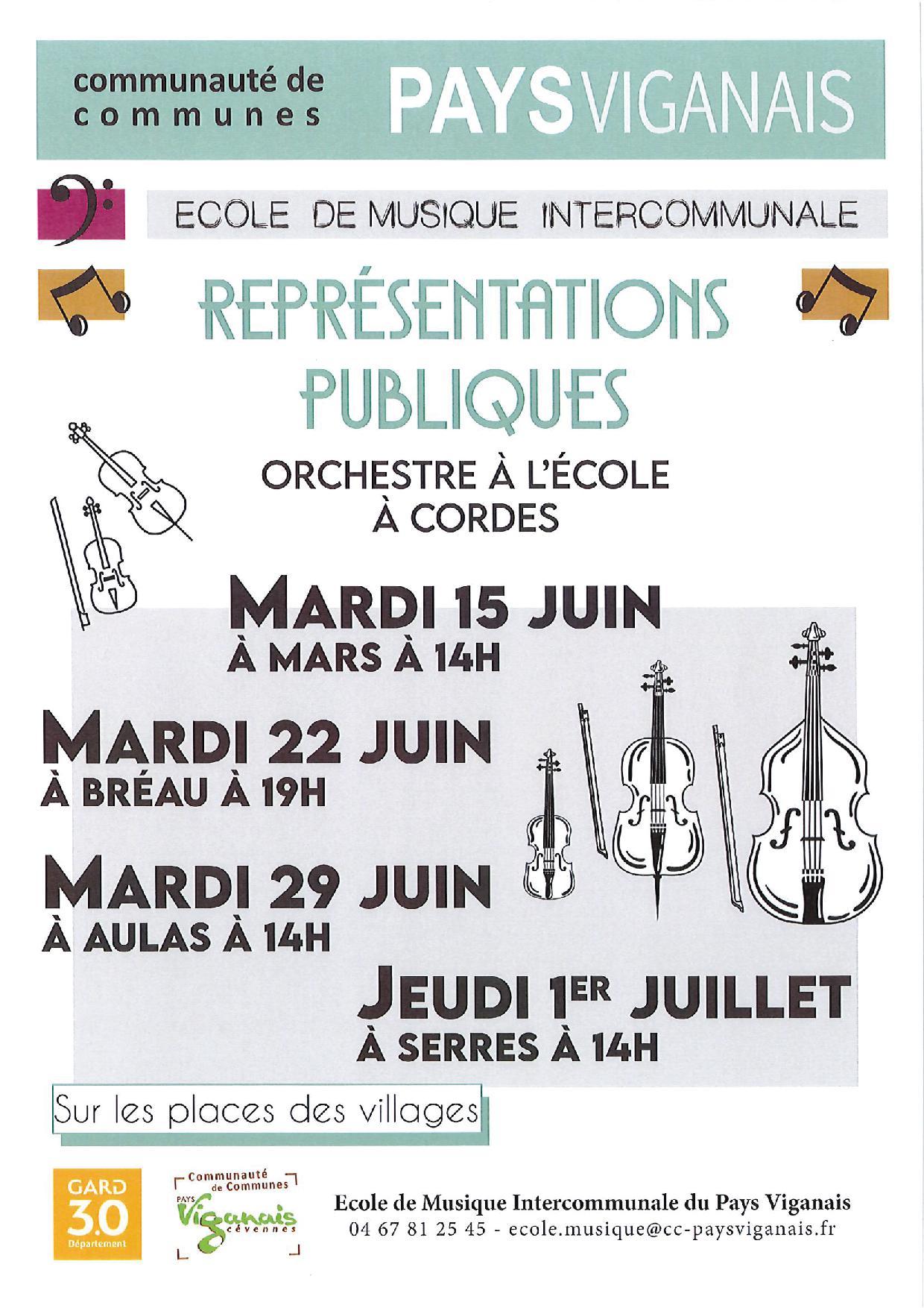 Concert à Bréau - Serres - Mars - Aulas de l'Orchestre à l'Ecole