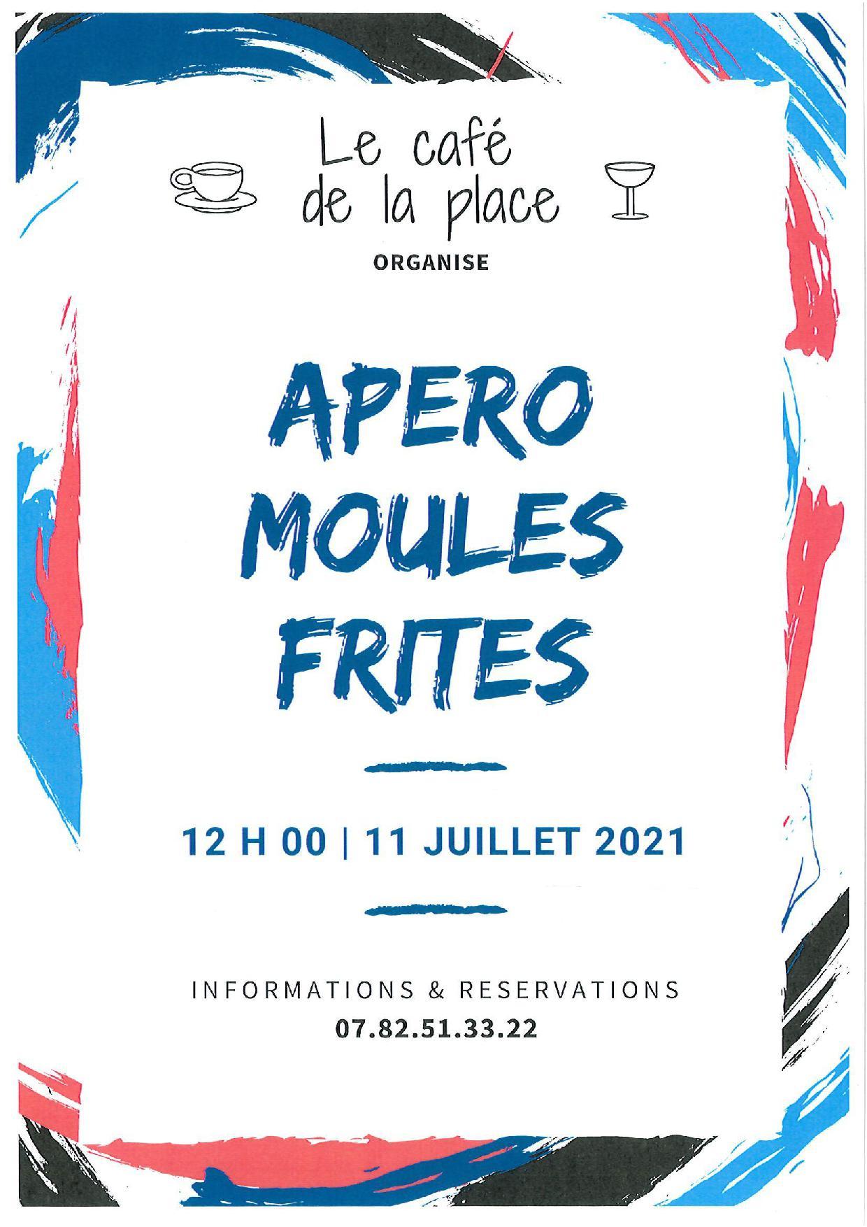 APERO MOULES FRITES 11 JUILLET 2021