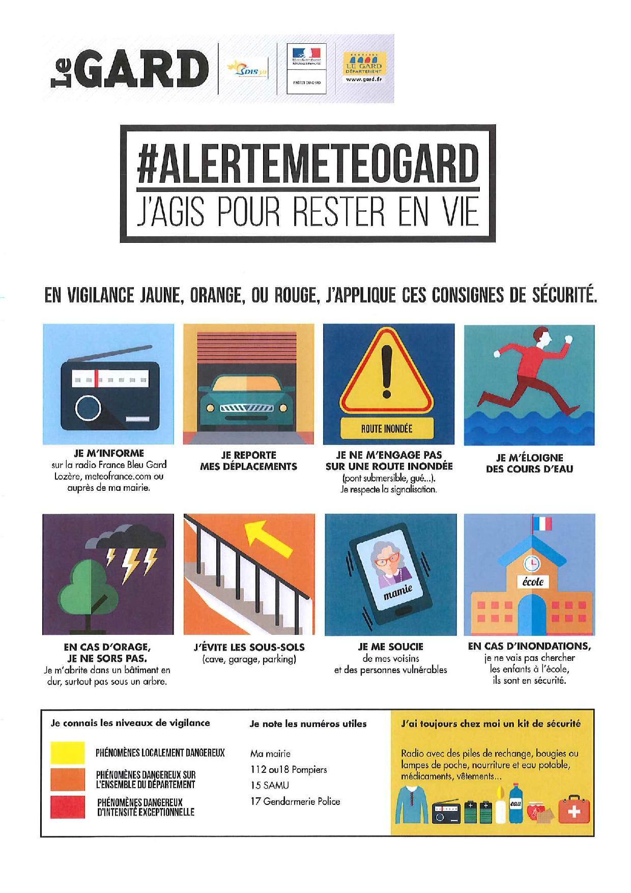 Communication : Alertes météo