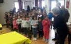 Galette des enfants de l'école avec Lou Rossignol