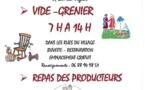 VIDE GRENIER ET REPAS DES PRODUCTEURS LE 11 AOÛT 2019
