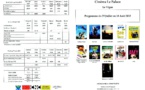Programme du Cinéma Le Palace du 29 Juillet au 18 Août 2015